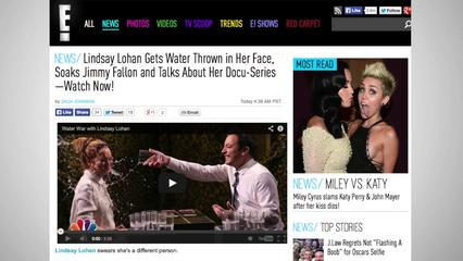 News video: Lindsay Lohan Beats Jimmy Fallon in 'Water War'